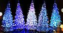 Новогодняя Статуэтка LED Елочка Мини Светильник Елка 11 см 10 шт. в Упаковке top, фото 4