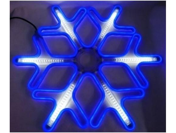Гирлянда Снежинка Уличная Светодиодная LED Гирлянда Большая Снежинка 60х60 Цвета в Ассортименте top