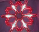 Гирлянда Снежинка Уличная Светодиодная LED Гирлянда Большая Снежинка 60х60 Цвета в Ассортименте top, фото 2