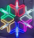 Гирлянда Снежинка Уличная Светодиодная LED Гирлянда Большая Снежинка 60х60 Цвета в Ассортименте top, фото 5