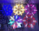 Гирлянда Снежинка Уличная Светодиодная LED Гирлянда Большая Снежинка 60х60 Цвета в Ассортименте top, фото 6