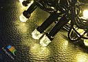 Гирлянда Штора Кристалл 180 LED 1,5*1,5 м Цвета в Ассортименте Черный Провод top, фото 4