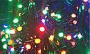 Гирлянда Нить Линза 300 LED на Елку V5 Цвета в Ассортименте Черный Провод sale, фото 2