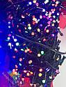 Гирлянда Нить Линза 300 LED на Елку V5 Цвета в Ассортименте Черный Провод sale, фото 6