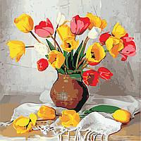 Картина по номерам ArtStory Цветные тюльпаны  40*40см, фото 1