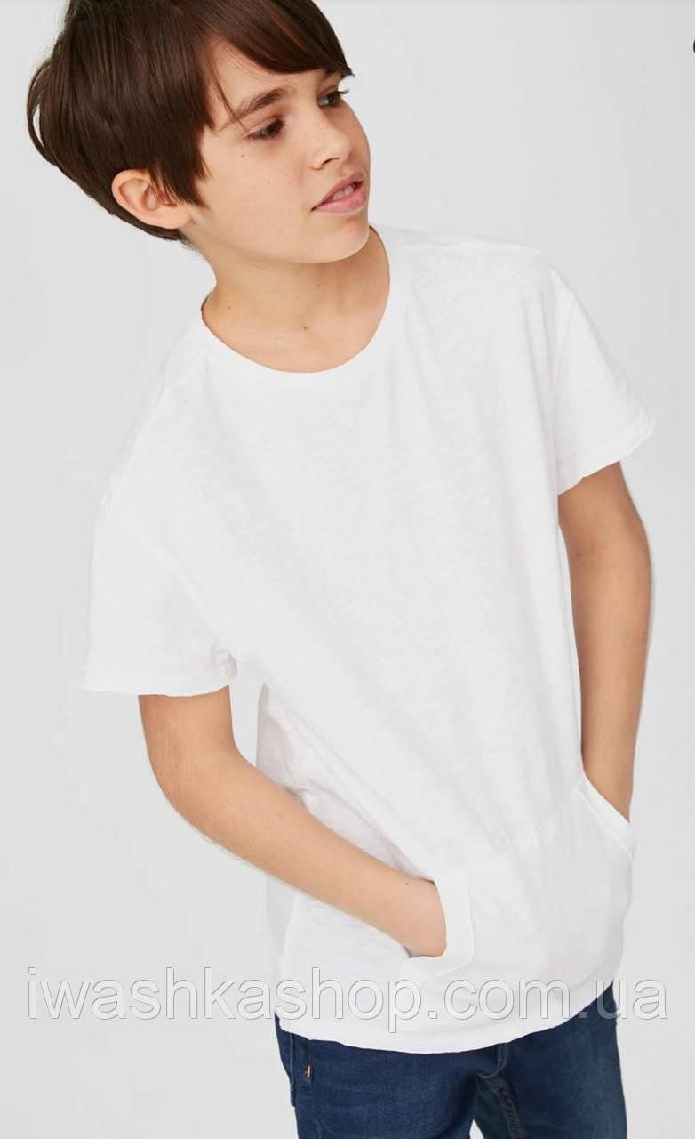 Стильная футболка с карманом на мальчика 8 - 10 лет, р. 134 - 140, here+there / C&A
