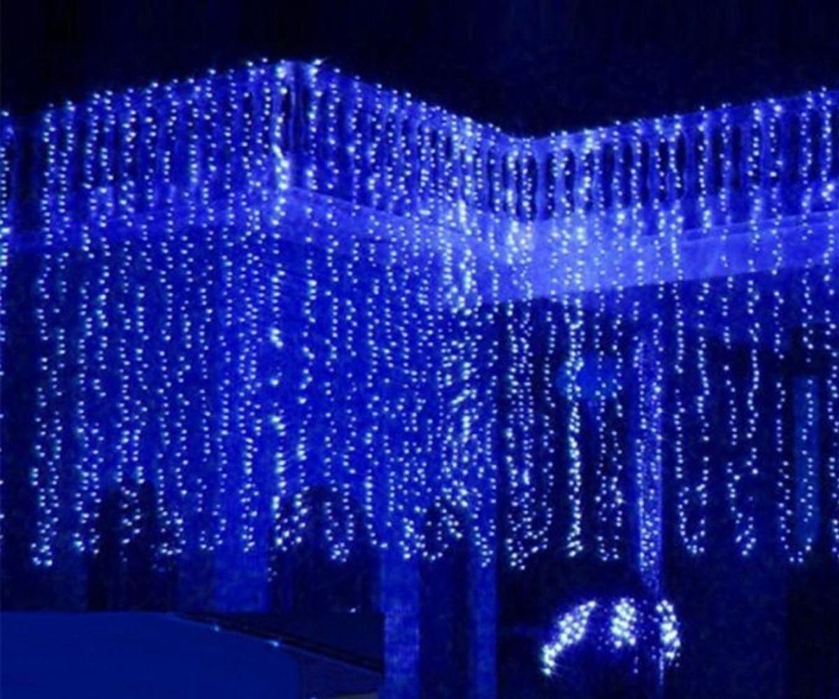Гирлянда Штора Уличная 360 LED 2х2 м Цвета в Ассортименте sale