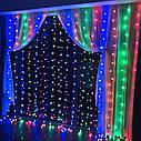 Гирлянда Штора Уличная 360 LED 2х2 м Цвета в Ассортименте sale, фото 2