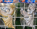 Елочная Игрушка Ангел с Звездой Рождественский Золотой Серебряный sale, фото 3