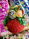 Елочная Игрушка Новогодний Шар Заснеженный с Шишкой Колокольчиком 9 см Цвета в Ассортименте sale, фото 5