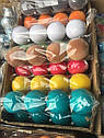 Елочные Шары Бархат Однотонные 8 см Новогодние Шары на Елку в Ассортименте 4 шт в Упаковке sale, фото 2