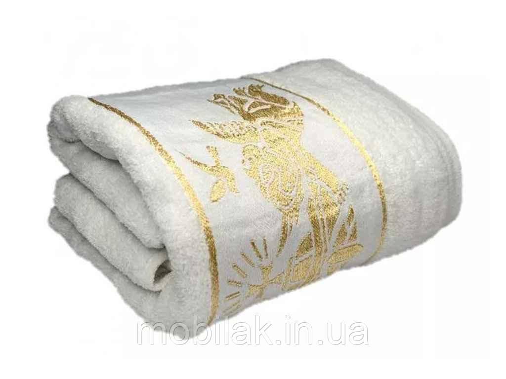 Крижмо для хрещення Біле з золотом 140*70 арт.14070 ТМ ПОЛОТЕНЦЕ