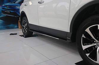 Інтегровані підніжки Toyota Rav 4 рестайлінг 2016-2018