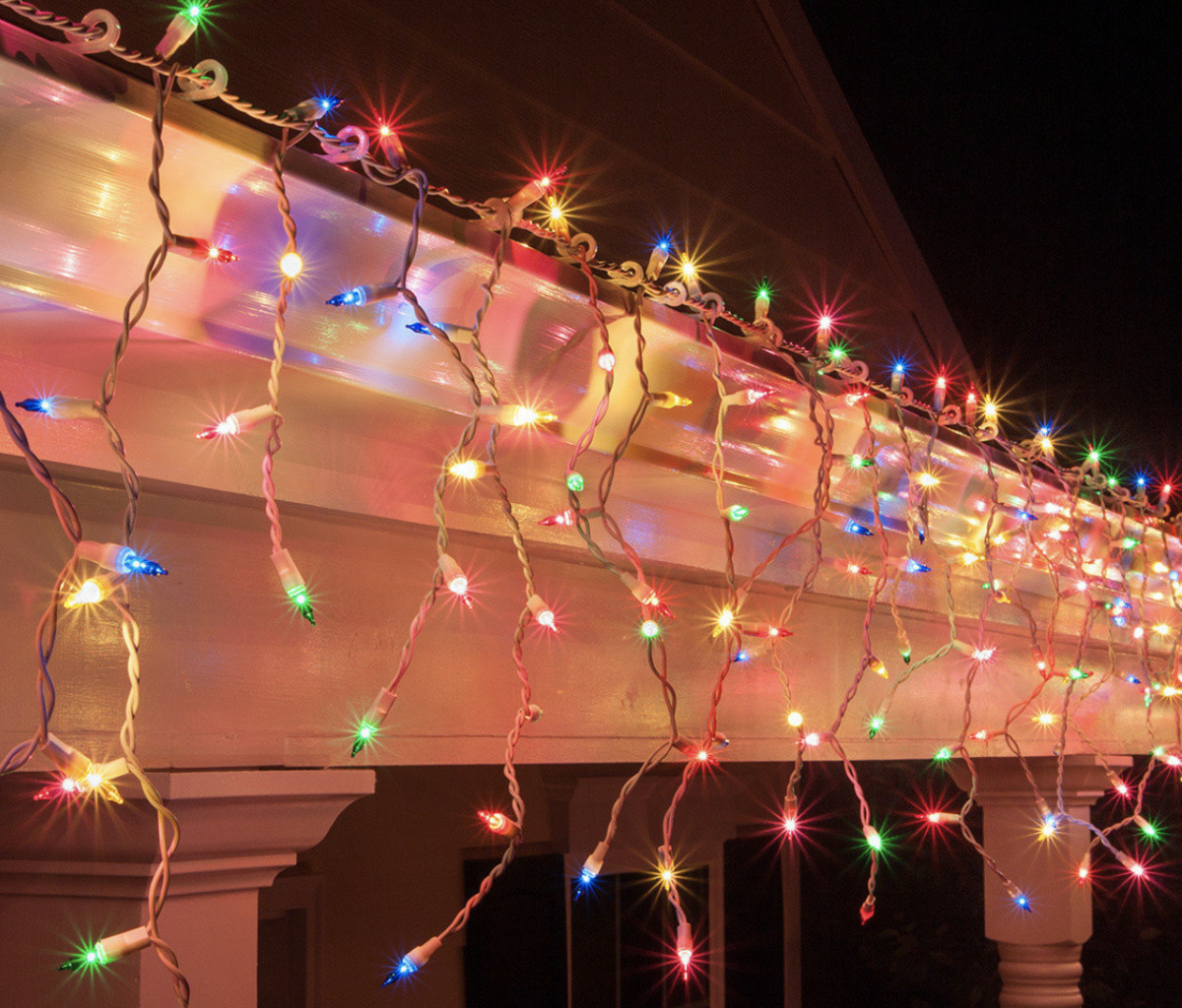 Уличная Гирлянда Бахрома 3,3 х 0,7 м 120 LED Цвета в Ассортименте sale