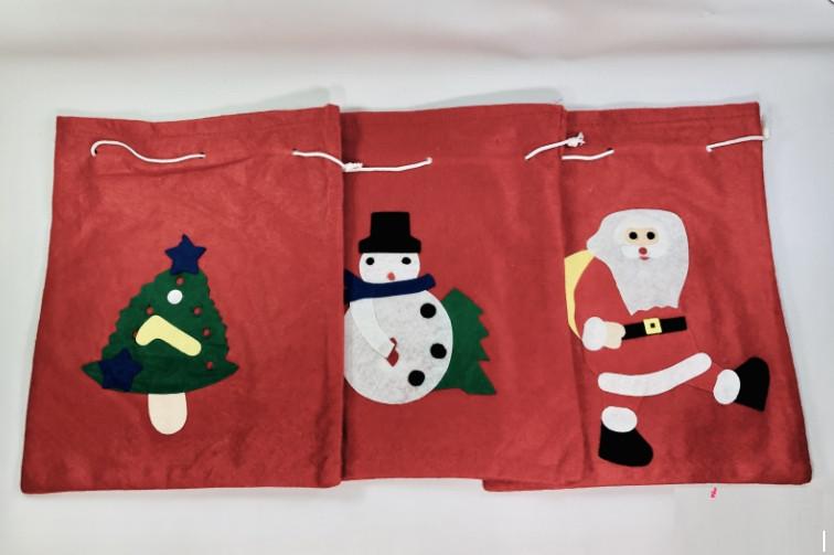 Мешок Деда Мороза Микс Для Подарков Красный Новогодний Мешок Размер 10х24 см 12 Шт В Упаковке sale