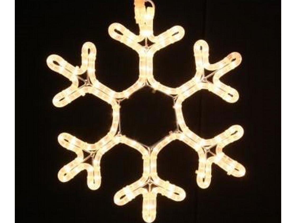 Гирлянда Снежинка Уличная Светодиодная LED Большая 28х28 Цвета в Ассортименте sale