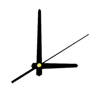 Стрелки для часов, часового механизма комплект из 3 стрелок, черные прямые