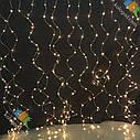 Гирлянда Штора Капля на Проволоке 3 х 2 м Цвета Ассортименте sale, фото 3