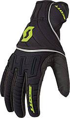 Перчатки SCOTT RIDGELINE BLACK/LIME/GREEN для езды на снегоходе, квадроцикле