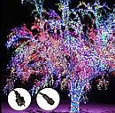 Уличная Гирлянда Нить Зеленый Провод 600 LED Лампочек Цвет в Ассортименте sale, фото 5