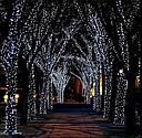 Уличная Гирлянда Нить Зеленый Провод 600 LED Лампочек Цвет в Ассортименте sale, фото 7
