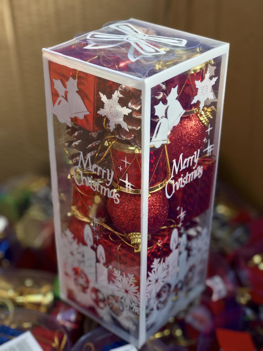 Новогодний Рождественский Подарочный Набор Украшение Елочная Игрушка sale