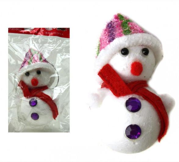 Украшения На Елку Снеговик Новогодняя Игрушка Снеговик Размер 12х6,5 См sale
