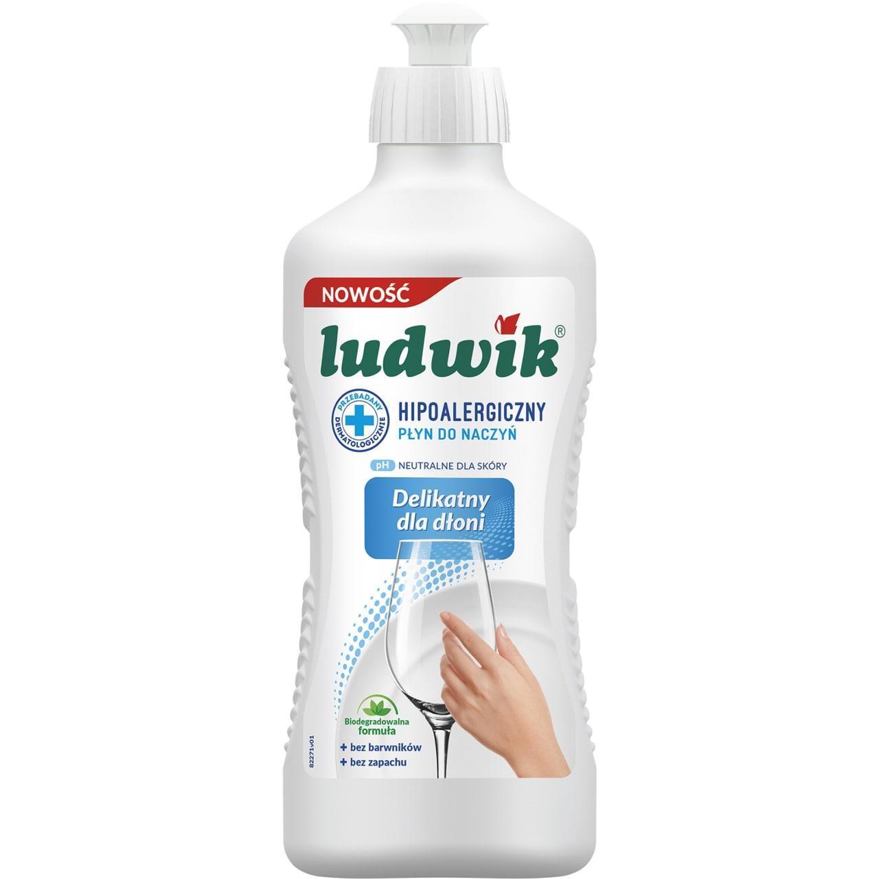 Средство для мытья посуды гипоалергенный Ludwik Hypoallergenic Людвик, 450 мл