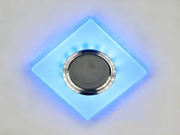 Светильник Акриловый точечный  с синей подсветкой