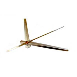 Стрелки для часов, часового механизма, комплект из 3 стрелок, серебристые