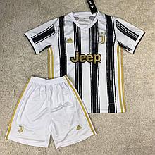 Футбольная форма Ювентус  2020-2021 домашняя, черно-белая