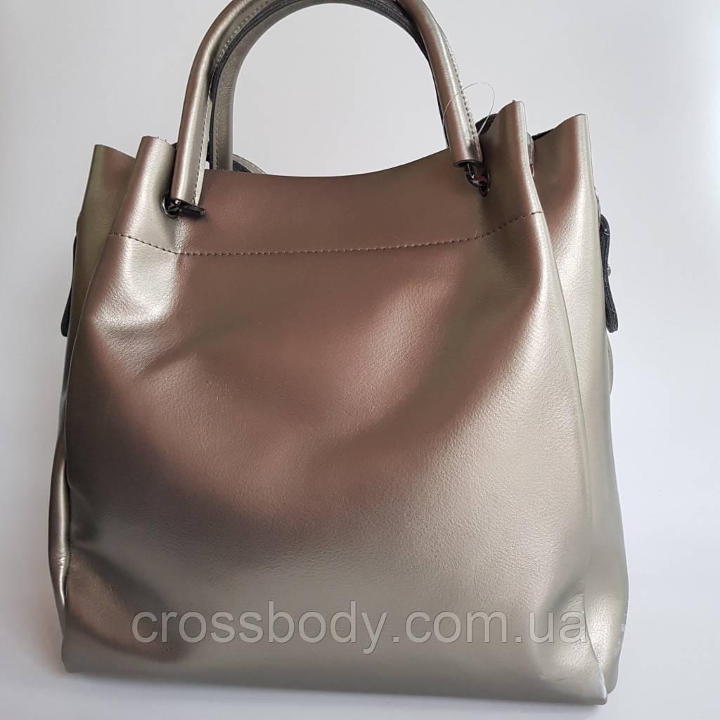 Женская торба бронз длинный ремешок