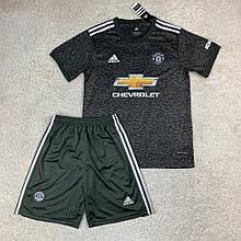 Футбольная форма Манчестер Юнайтед 2020-2021 выезд/черный