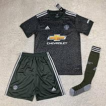 Футбольная форма Манчестер Юнайтед 2020-2021 выезд/черный, фото 2