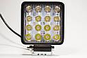 Светодиодная LED фара рабочая 48Вт,(3Вт*16ламп) (SLstart) (тонкий радиатор), фото 5