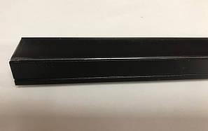 Черный накладной LED-профиль с черным рассеивателем ЛП-20АВ (за 1м) Код.59786