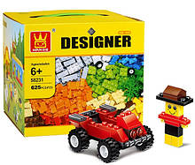 Детский конструктор WANGE Designer 625 деталей модель 58231