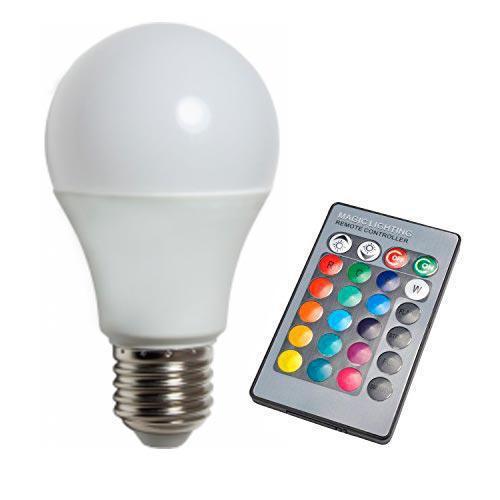 Светодиодная лампа RGB SL734 5W А70  E27 с пультом 220V Код.59291
