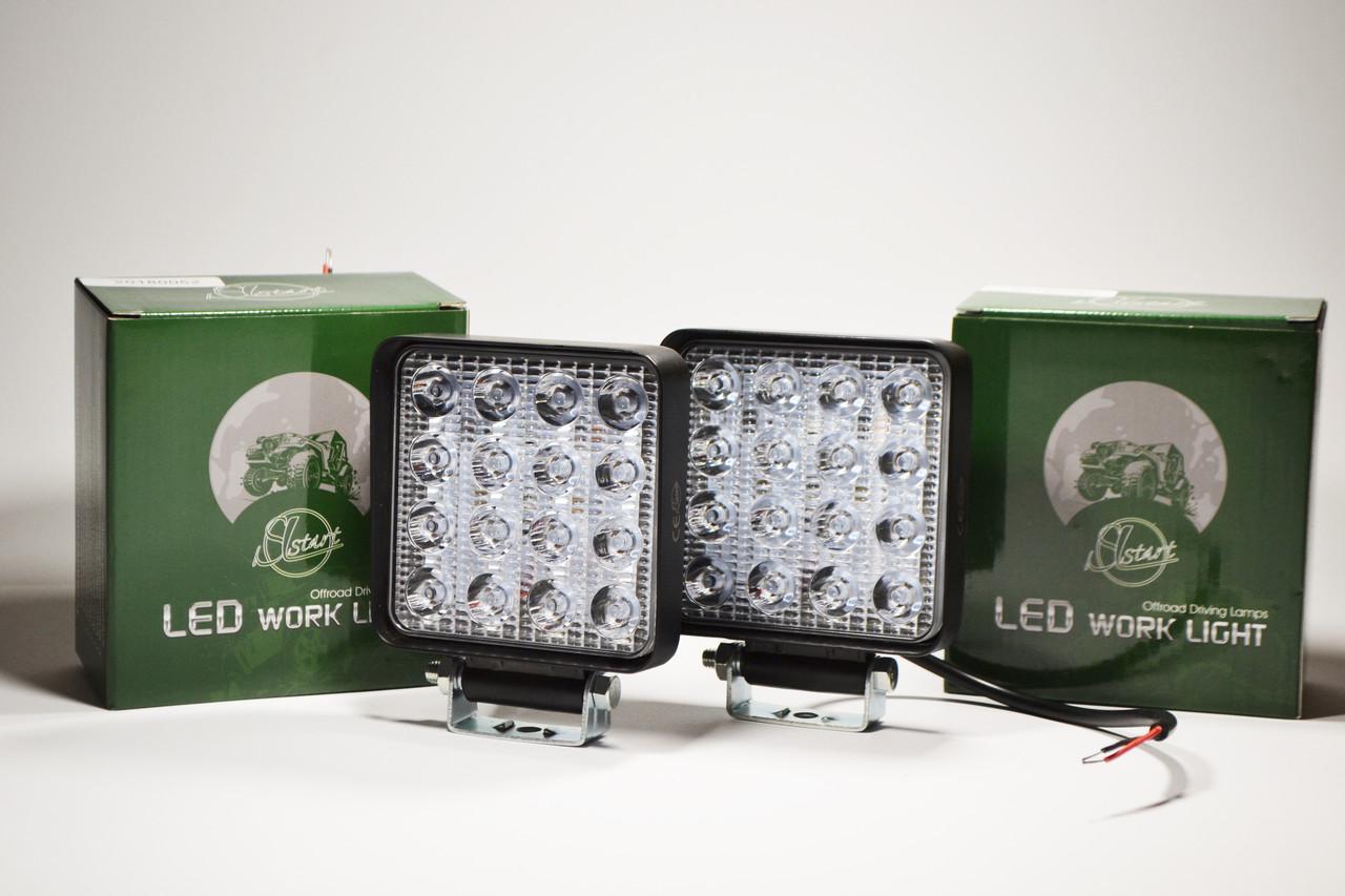 Светодиодная LED фара рабочая 27Вт,(1.7Вт*16ламп) (SLstart) (Комплект 2шт)