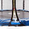 Батут Atleto с внешней сетью, 183 см синий 20000602, фото 4