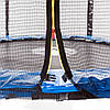 Батут Atleto з зовнішньої сіткою, 183 см синій 20000600, фото 4