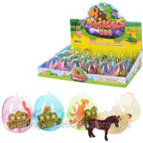 Яйцо KL02-1 (864шт) 6см, животные, от 7см, 24шт(микс видов) в дисплее, 34,5-24-8см