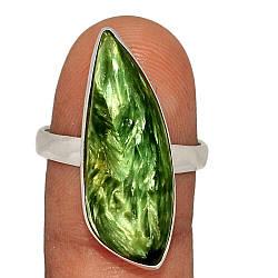 Серебряное кольцо с серафинитом, 2575КЦС