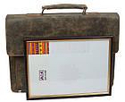 Портфель из натуральной кожи A-art TSM1401 коричневый, фото 7