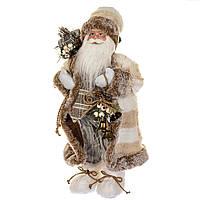 "Фигурка ""Санта с подарком""  серый костюм 46 см (6011-002), фото 1"