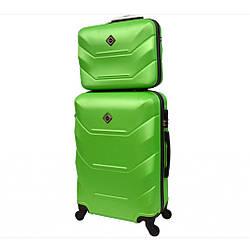Комплект чемодан + кейс Bonro 2019 (невеликий) салатовий