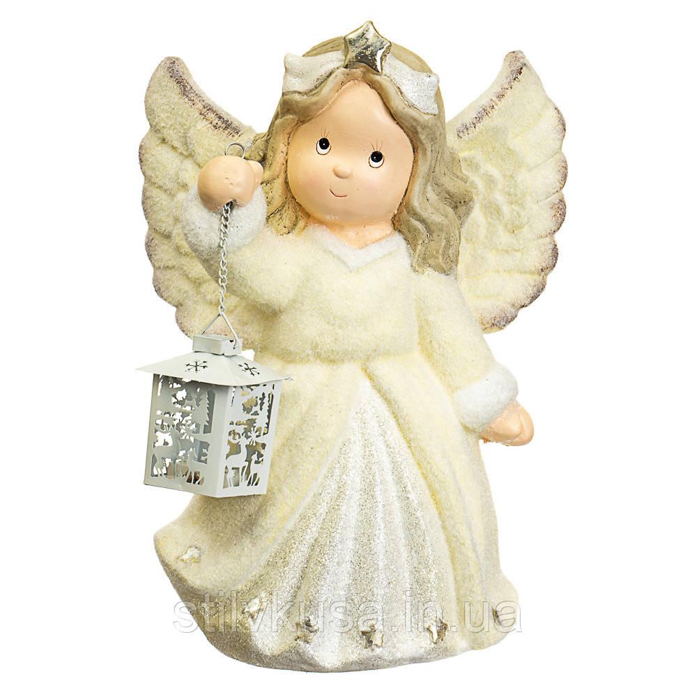 """Статуетка """"Ангел з ліхтариком"""" (великий розмір) (001NQ)"""