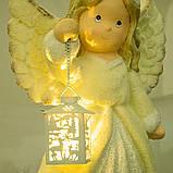 """Статуетка """"Ангел з ліхтариком"""" (великий розмір) (001NQ), фото 2"""