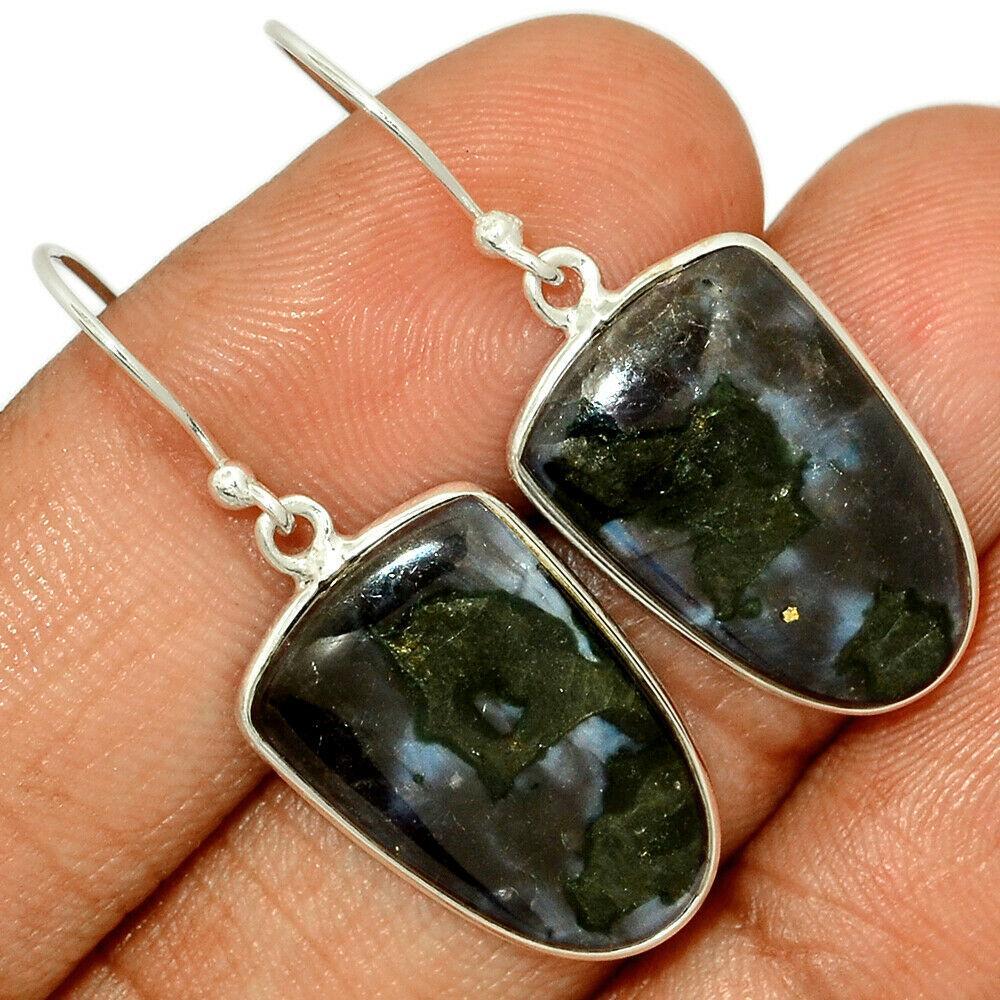 Серебряные серьги с мистик Мерлнитом, 1482СМ
