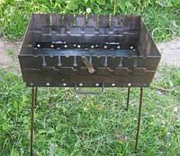 Мангал для шашлыка Fire 6, раскладной, вмещает до 10 шампуров, сталь, производство Украина